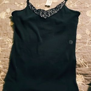 Comfortable Embroidered Black Tank Top!